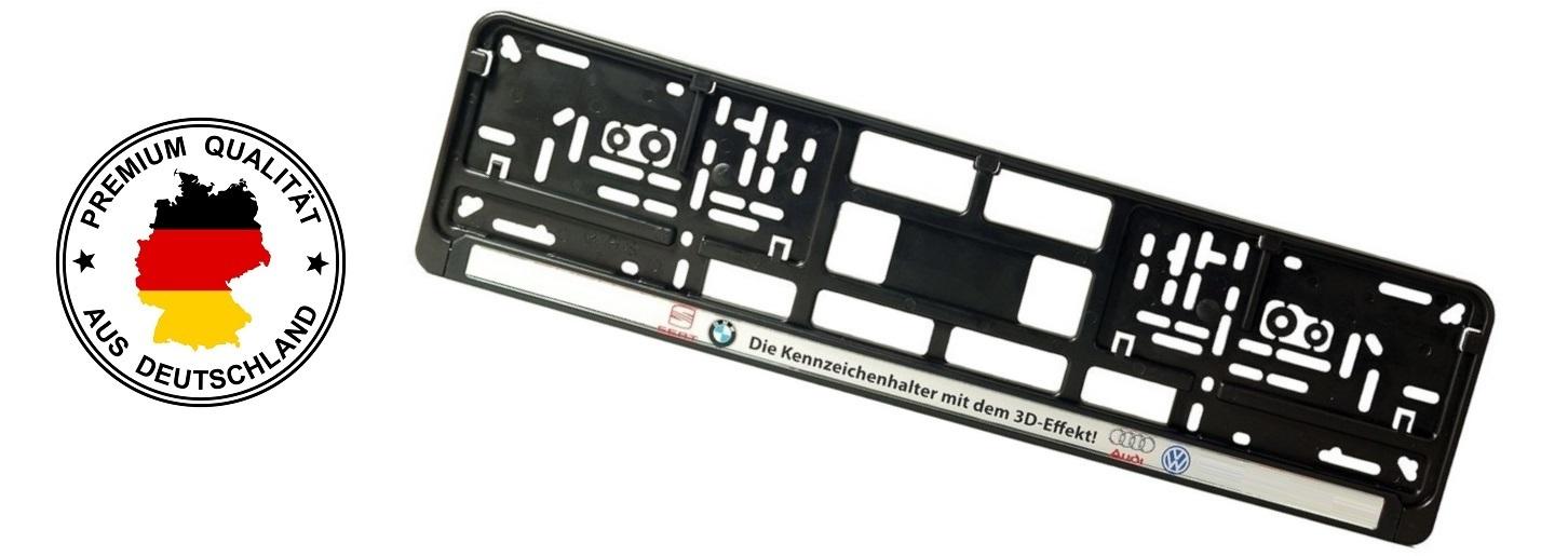 Kennzeichenhalter Sat digital, Digitaldruck Doming in 3D-Optik