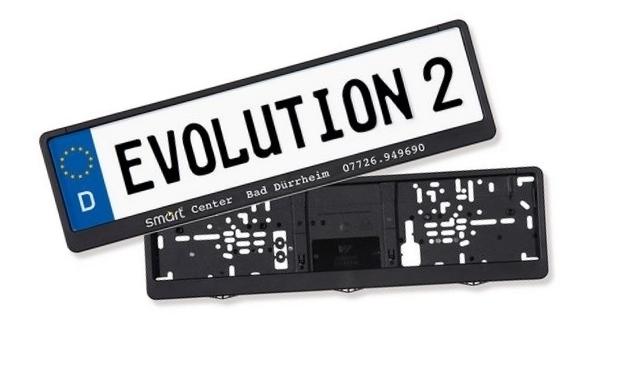 kennzeichenhalter evolution 2 460 mm kfz werbeartikel. Black Bedroom Furniture Sets. Home Design Ideas