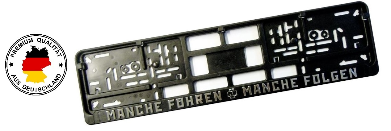 Kennzeichenhalter TI mit erhabener Schrift, 3D Chrom Beschriftung