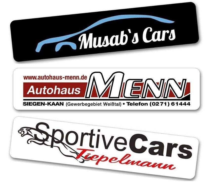 Kennzeicheneinleger mit Logo / Werbung - Werbeschilder Miniletter